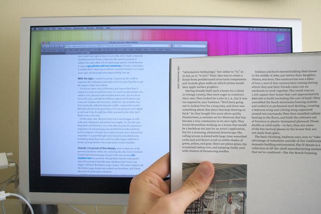 Poređenje veličine fonta na ekranu i na papiru
